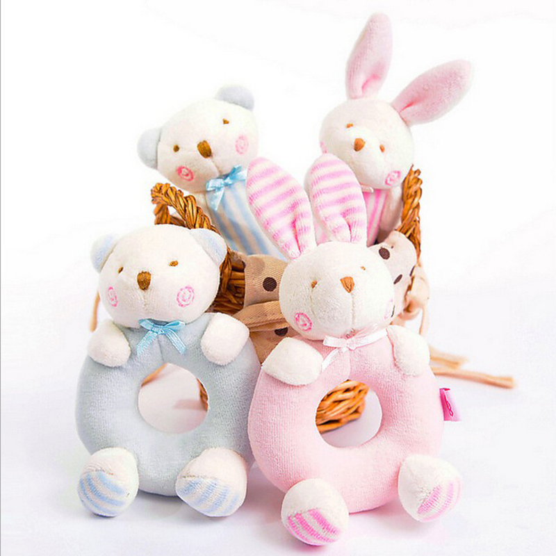 2pc I&amp;O Cartoon Bear Baby Puppet Toys Plush Bunny Dolls for Infant Kids Gifts Great doll for Baby Gifts<br><br>Aliexpress