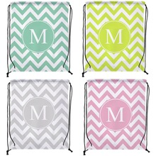 Pack Of 4 Monogram Custom Individual Outdoor Beach Gym Swimming Clothing Shoes Towel Storage Bag Drawstring Backpack
