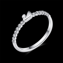 Swan Ring Jewelry white  Micro CZ Paved Women Cross Rings R10004