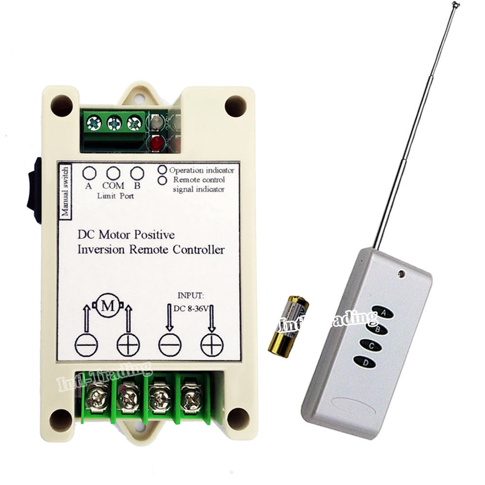 Buy 12v Dc Motor Forward Reverse Remote Control And Get Free 12vdc Limit Switch Wiring Diagrams Shipping On