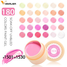 CANNI usine fournir Venalisa Nail Art Conceptions 2 dans 1 UV/LED Soak Off 141 Couleurs 5 ml Peel off UV Couleur Gel(China)