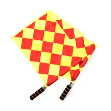 The World Cup Soccer Referee Flag Fair Play Sports Match Football Linesman Flags Referee Equipment + Carry Bag