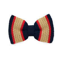 LF-334 Fashion New Arrival Knitted Crochet Men`s Bowties Adjustable Khaki & Blue Novelty For Party Bussiness Free Shopping
