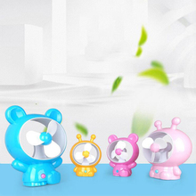 Cute Cartoon Mini Portable Usb Rechargeable Fan Air Cooling Fan