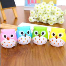 Random Color Mini Kawaii Funny Owl Pencil Sharpener Cutter Knife School Student Stationery Supplies