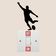 Rugby Player Fashion Home Room Wall Decal Vinyl Light Switch Sticker 6SS0122