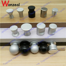Dia. 16mm/18mm/20mm/22mm Single hole sand silver color space aluminum Kitchen Furniture bedroom drawer knob pulls(China)