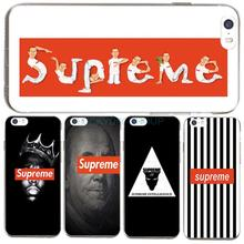 For Fashion Popular Brand Logo Suprem Case For IPhone7 7Plus 4 5S SE 6 6S Case Transparent Silicone soft slim Tpu Phone Cover