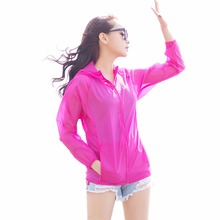 Buy 2017 Brand Summer Lady Sun Protection Jacket Women Beach Breathable Sunscreen Ultra Thin Hooded Shirts Women Clothes Transparent for $12.15 in AliExpress store