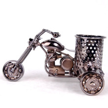 Metal Motorcycle Model Retro Motorbike Model Pencil Cup Antique Motor Bicycle Pen Container Holder Home Office Decor(China)