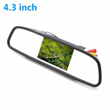 New 4.3' Color LCD Car Monitor Rear View Mirror 4.3 Inch TFT Car LCD Screen Rear View Rearview DVD AV Mirror Monitor(China)