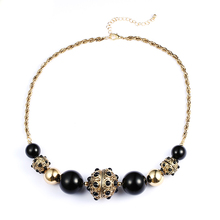 2017 Ball Women Real New Collares Maxi Necklace Collier Fashion Exaggerated Baroque Atmospheric Street Movies Magazine Short