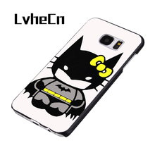 LvheCn Kid Hello Kitty Batman phone case cover for Samsung Galaxy S3 S4 S5 S6 S7 S8 edge plus Note 2 3 4 5 8(China)