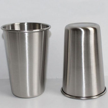 100pcs/lot 500ML Stainless Steel Cups 16oz Tumbler Pint Glasses Metal Cups Hand Beer Cup Drinking Accessories ZA4487