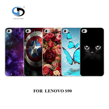design Cell phone cases cover white hard cases for Lenovo s90 BLACK CAT ROSE Fashion phone Back Cover
