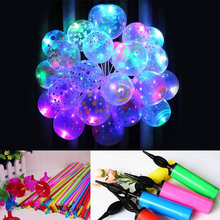 10 Pcs LED Light Up Balloons Glow Flash Lights Mixed Color Halloween Birthday Party Kids Toys Sale New(China)