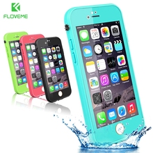 FLOVEME For iPhone 7 6 6s Case Touchable Screen Waterproof Case For iPhone 7 6 6s Plus Ultra Slim 360 Full Protective Cover Capa