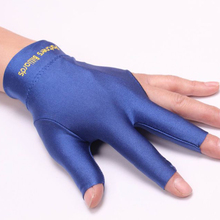 Spandex Snooker Billiard Cue Glove Pool Left Hand Open Three Finger Accessory Fitness Accessories(China)