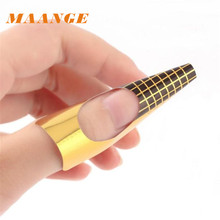 MAANGE Pretty Nail Art Stickers 100Pcs Nail Art Tips Extension Forms Guide French DIY Tool Acrylic UV Gel
