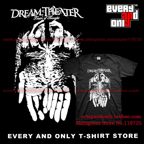 DREAM THEATER Progressive Rock Band Train of Thought 100% cotton t-shirt tee(China (Mainland))