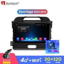 Junsun Штатное Головное устройство For KIA Sportage 3 4 2010-2015 GPS Android 8.1 aвтомагнитола магнитола 2 din втомагнитолы 2DIN Андроид для Киа Спортейдж штатная маг...