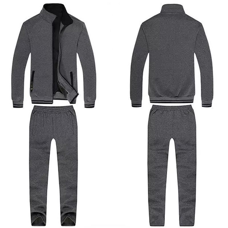 Men Sportsuits Knitted Fabrics Clothing Warm Gym Sportswear New Winter Outdoor Workout Sport Sets Jogger Run Jogging Suit Man In Hair Clips Pins From