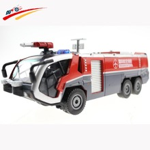 Alloy 1:50 Airfield Water Cannon /Water Fire Engine Truck  Diecast Model Collection Gift for Kids Toy