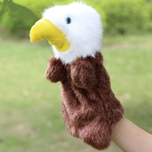 Hot Sale Cute Eagle Plush Hand Puppet Dolls Hawk Parent-child Early Educational Puppet Toys Best Christmas Birthday Toy Gifts(China)