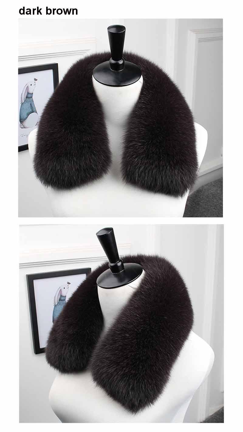 fox fur collar men dark brown