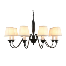 modern large traditional room black iron chandelier flush mount living chandelier in the living room led(China)