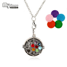 my shape Steampunk Style Colorful Elephant Chakra Pendant With 5 Colors Pads Essential Oil Diffuser Necklace Perfume Jewelry