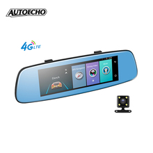 "7.84"" 4G rear view Mirror Car DVR camera video recorder with dual lens full hd 1080p wifi dash cam Android 5.1 ADAS LDWS dashcam"