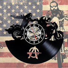 Sons of Anarchy Wall Clock Art Gift Room Modern Home Record Vintage Decoration