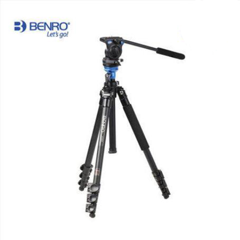 Benro A1573FS2 Bird Watching Aluminum Tripod Kit Stable Monopods Hydraulic Head Portable Photography Tripod Kit For Video Camera(China (Mainland))