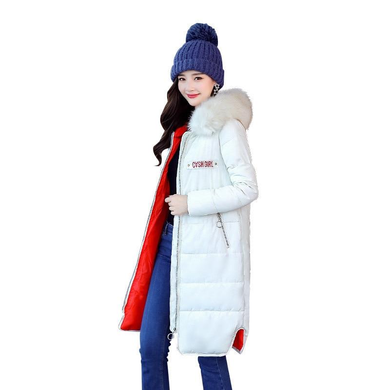 2017 New Winter Women Down Cotton Medium-Long Jacket Parka Female Hooded Fur Collar Thicken Size M-3XL Slim Outerwear ParkaCQ503Îäåæäà è àêñåññóàðû<br><br>