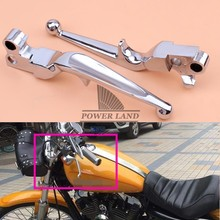 Chrome Motorcycle Parts Hand Levers Aluminum Brake Clutch Handlebar Lever for Harley XL Sportster 883&1200 Softail FLSTN FLSTF