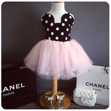 Fashion Dresses For Girls Summer Children Clothing Minnie Costume Tulle Girl Tutu Dress Infant Kids Pink Dot Princess Sundress