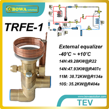 14RT cooling capacity thermostatic expansion valve replace Danfoss TDE TDEB and Honeywell TLESX / TLEX expansion valves
