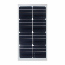 Universal Safety 20W 12V Semi Flexible Solar Panel Monocrystalline Super-thin Sun Power for Battery Charger Caravan Outdoor+Chip