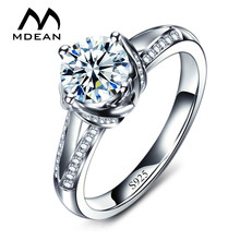 MDEAN Engagement Rings For Women AAA Zircon Jewelry Bague Bijoux Accessories Size 5 6 7 8 9 10 MSR098(China)
