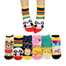 women winter thicken warm monkey panda socks emale cotton socks woman cartoon animal pattern socks 2017 Christmas gift(China)