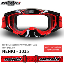 NENKI Motocross Off-Road Glasses Motorcycle ATV Dirt Bike MX DH Downhill Racing Eyewear Ski Snowboard Goggles Replaceable Lens(China)
