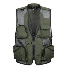 Free Shipping Men Mesh Vests g Multi-pocket Photographer Vest Men's Reporter Director  Military Style Vest