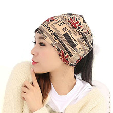 Casual beanie scarf dual-use cotton polyester fashion hat cap covering cap turban supreme hip hop hats for women