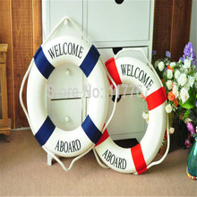 New Hot Sale 1PC Fashion Mediterranean Family Adorment Life Buoy Crafts Living Room Decoration Nautical Home Decor ZQ870215