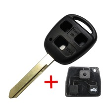 Remote TOY47 Blank Key Shell Fit For TOYOTA Yaris Avensis 3 Button Case Fob With Button Pad With Logo