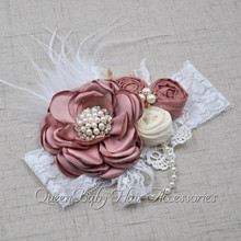 Vintage Inspired Headband  Stunning Baby Girl Photo Prop  Baby Girl Hair Band