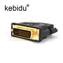 Kebidu DVI 24+1 Male to HDMI Female Converter HDMI to DVI adapter Support 1080P for HDTV for PS3 PS4