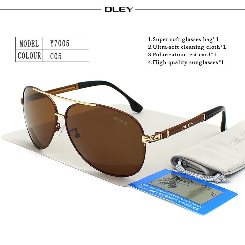 OLEY Luxury sunglasses men polarized Classic pilot Sun glasses fishing Accessories driving goggles gafas de sol zonnebril mannen 13