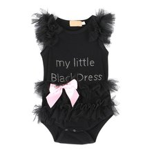 Baby Girl Clothes Sleeveless Letter Bow Summer Baby Romper Newborn Baby Jumpsuits One-piece Shirt Tops Dress Costume